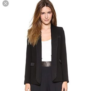 Alice + Olivia employed long tuxedo blazer black S